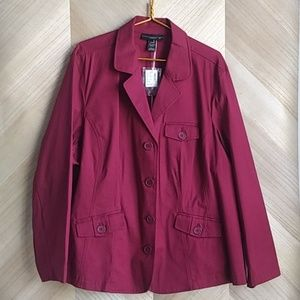 Venezia by Lane Bryant Burgundy Jacket
